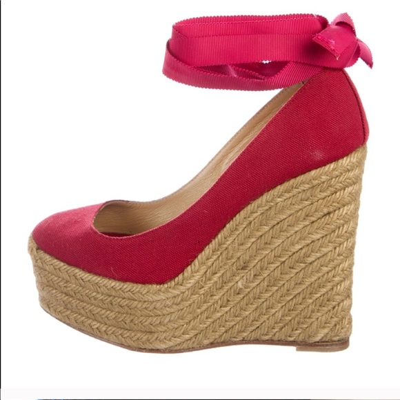 42e90325e280 Christian Louboutin Shoes - Christian Louboutin Formentera Red Espadrilles